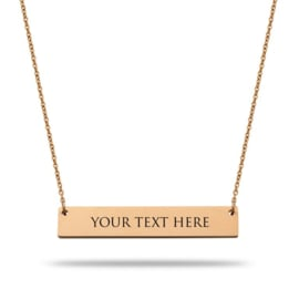 Bar Necklace | Personalized | Rosé Gold