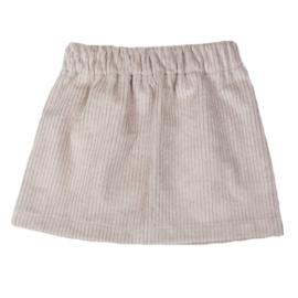 Skirt | Cotton Rib | Sand | Handmade
