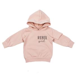 Hoodie met klepzakje | Rebel Girl | 4 Kleuren