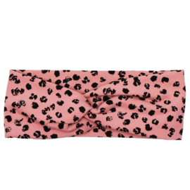 Headband Twist | Leopard Rose | Handmade