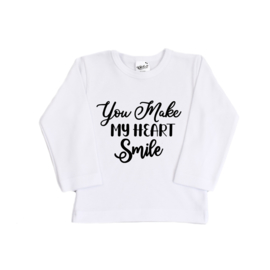 Valentijn shirt | You make my heart smile