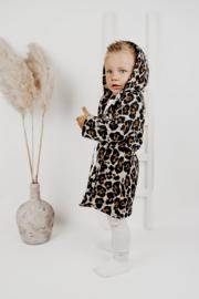 Hoodie Cardigan | Sandy Leopard | Handmade