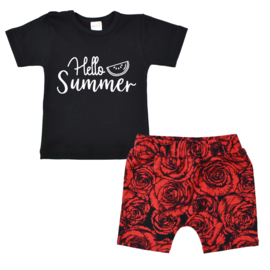 Shirt Hello summer | Shorts Red Roses