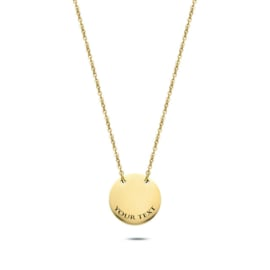 Coin Necklace | Gepersonaliseerd | Gold
