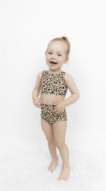 Exclusieve Baby Highwaist Bikini | Leopard | Handmade