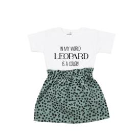 Shirt Leopard is a Color | Rokje Leopard Old Green