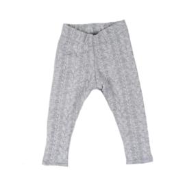 Legging | Cable | Grey | Handmade