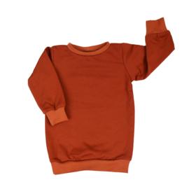 Baggy Sweaterdress | Fired Brick | Handmade