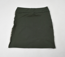 Sample sale | Dames A-Line Rok | Khaki green | White stripe | M