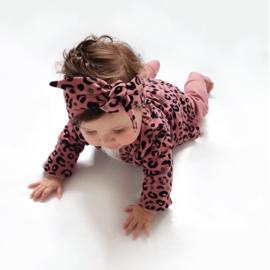 Headband - Leopard Rose - Handmade
