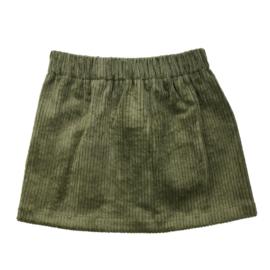Skirt | Cotton Rib | Khaki | Handmade