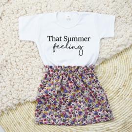 Shirt That Summer Feeling | Rokje Vintage Blossom