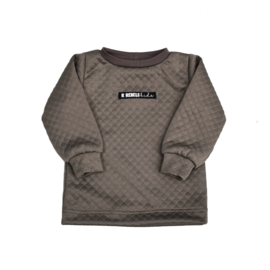 LIMITED EDITION Sweater logo | Sweat Taupe | Handmade