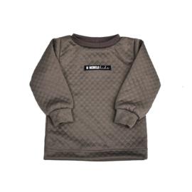 LIMITED EDITION Sweater logo | Sweat Taupe | Handmade