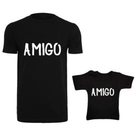 Twinning set - herenshirt & baby shirt - Amigo
