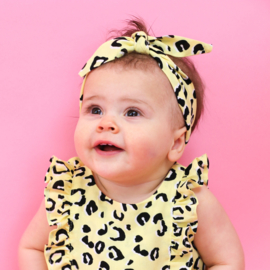 Headband | Yellow Leopard | Handmade
