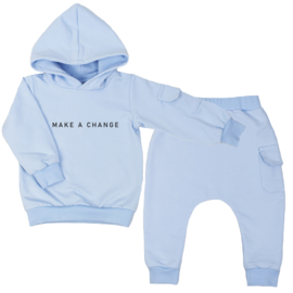 Hoodie suit with cargopocket | Make A Change | 7 Colours