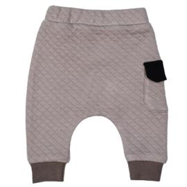 Harempants with Cargopocket | Premium Sweat Taupe | Handmade