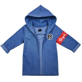 Jeans vest hoodie | Unisex | Medium Blue