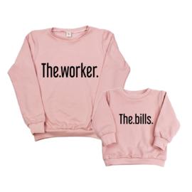 Twinning set - dames sweater & baby sweater - The Worker & The Bills