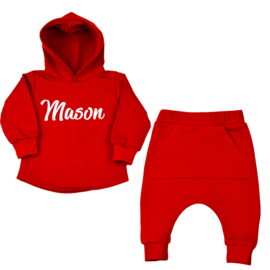 Hoodie Suit | Flaming Red | Name