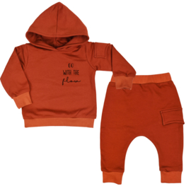 Hoodie Suit With Side Pocket| Go With The Flow | 6 Colours