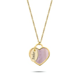 Seashell heart Necklace | Personalized | Gold
