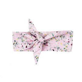 Headband | Flowerprint Light Pink | Handmade