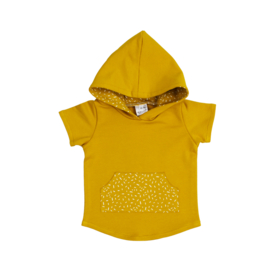 Hoodie | Short Sleeve | Mellow Yellow & Sprinkle Ochre