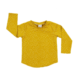 Long Sleeve | Sprinkles Ochre Yellow | Handmade