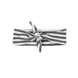 Headband - Stripes - Grey - Handmade