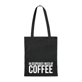 Canvas tas - Need Coffee - Zwart