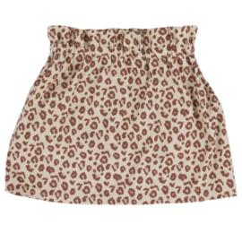 Paperbag Rokje | Leopard Taupe | 62/68 | ***