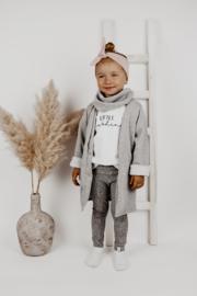Lang vest | Soft Grey Melange | Handmade