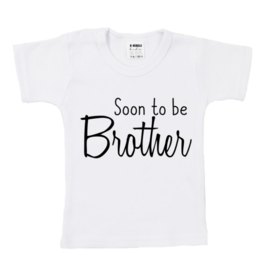 Shirt | Soon To Be Brother | Wit/Zwart | Kort | 62/68 | SS