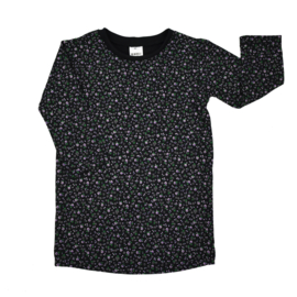 T-Shirt Dress | Mini Flower | Black | Handmade