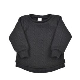 Sweater | Cable | Black | Handmade
