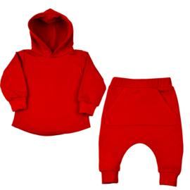 Hoodie Suit | Flaming Red | Handmade