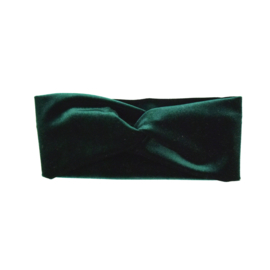 Haarband Twist | Velvet | Emerald Green | Handmade
