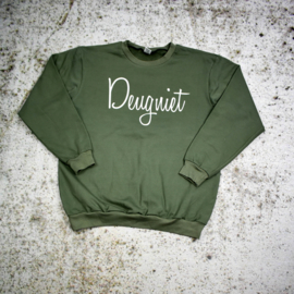 Sample Sale | Heren sweater | Deugniet | Khaki Green/Wit | XL