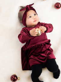 Longsleeve Dress | Velour Deluxe Bordeaux | Handmade