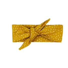 Headband | Sprinkles Ochre Yellow | Handmade