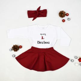 Shirt | Wit/Zwart | My very 1st christmas | 74/80 | LANGE MOUW | SS