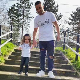 Twinning set - herenshirt & baby shirt - Deugniet & Kleine deugniet