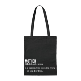 Canvas tas - Mother - Zwart