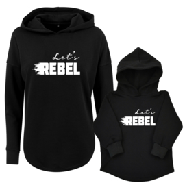 Twinning hoodies | Let's Rebel | Black