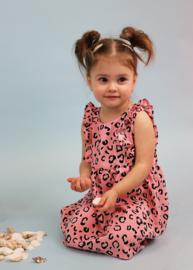 Ruffle Dress  | Peachy Leopard | Handmade