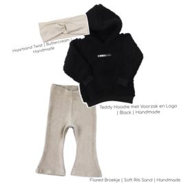 Outfit Deal   Teddy Black & Flared legging Rib Sand