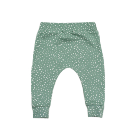 Slim fit broekje | Sprinkles Chalk Green | Handmade