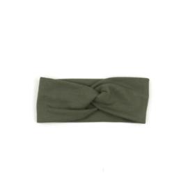 Hradband Twist | Khaki Green | Handmade